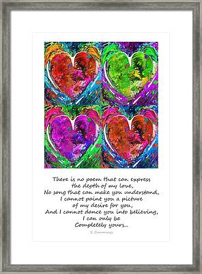 Romantic Art - Completely Yours - By Sharon Cummings Framed Print by Sharon Cummings