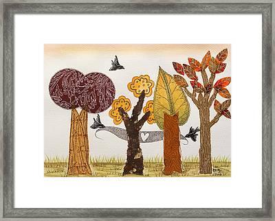 Romantic Autumnal Grove Framed Print
