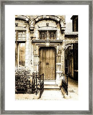 Romantic Bruges Framed Print