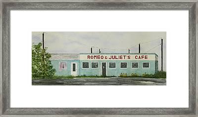 Romantic Cafe Framed Print