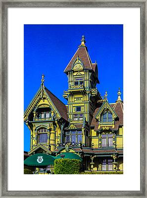 Romantic Carson Mansion Framed Print
