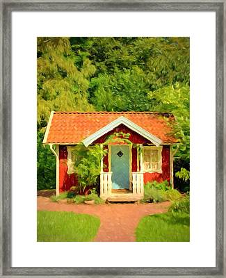 Romantic Cottage Framed Print