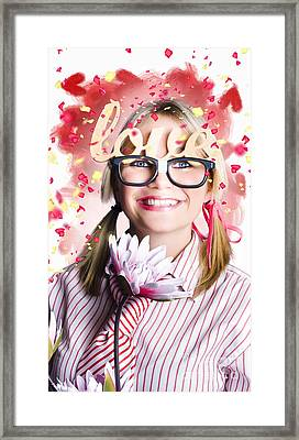 Romantic Female Nerd In A Celebration Of Love Framed Print by Jorgo Photography - Wall Art Gallery