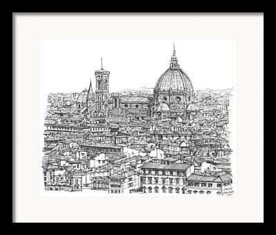 Del Drawings Framed Prints