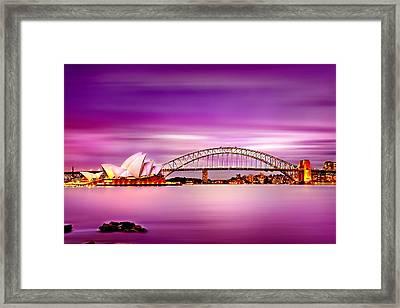 Romantic Harbour  Framed Print