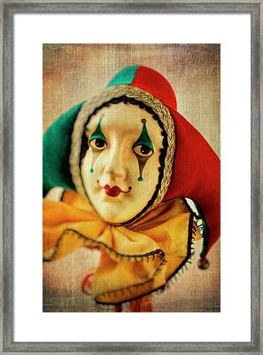 Romantic Jester Framed Print by Garry Gay
