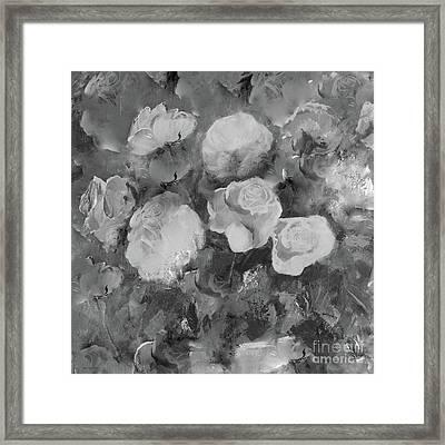 Romantic Large Roses  Framed Print