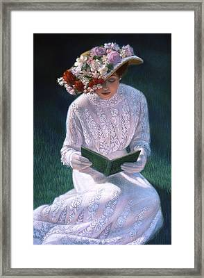 Romantic Novel Framed Print by Sue Halstenberg