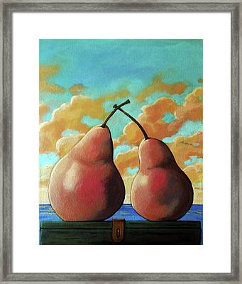 Romantic Pear Framed Print