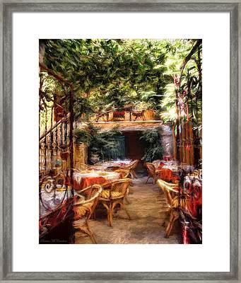 Romantic Restaurant Framed Print
