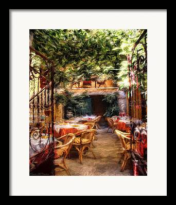 Patio Table And Chairs Digital Art Framed Prints