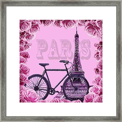 Romantic Ride To Paris Framed Print
