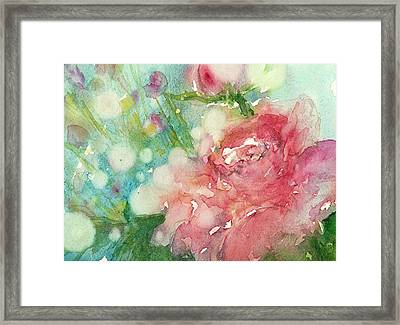 romantic Rose Framed Print by Judith Levins
