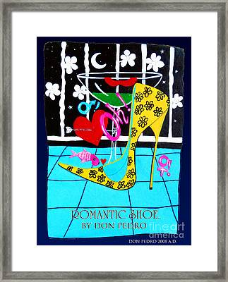 Framed Print featuring the painting Romantic Shoe by Don Pedro De Gracia