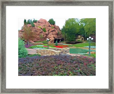 Framed Print featuring the photograph Romantic Skies Flower Garden Walkway by Aimee L Maher Photography and Art Visit ALMGallerydotcom