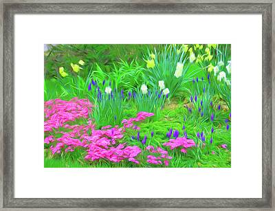 Framed Print featuring the photograph Romantic Skies Garden Escape by Aimee L Maher Photography and Art Visit ALMGallerydotcom