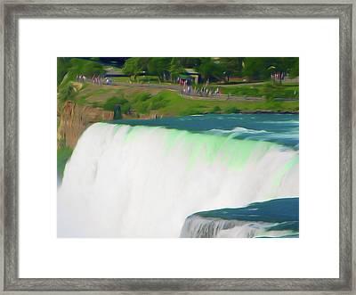 Romantic Skies Niagara Falls 10 Framed Print