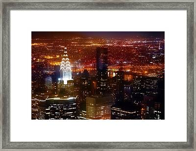 Romantic Skyline Framed Print by Az Jackson