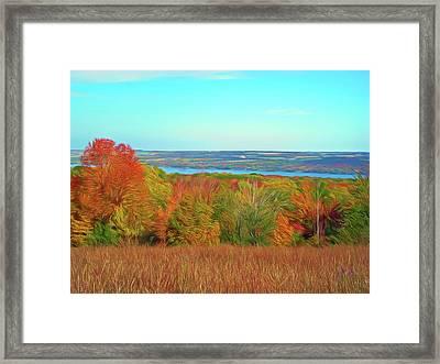 Romantic Slies Autumn Glory Framed Print