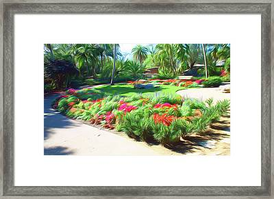 Framed Print featuring the photograph Romantic Skies Garden Park by Aimee L Maher Photography and Art Visit ALMGallerydotcom