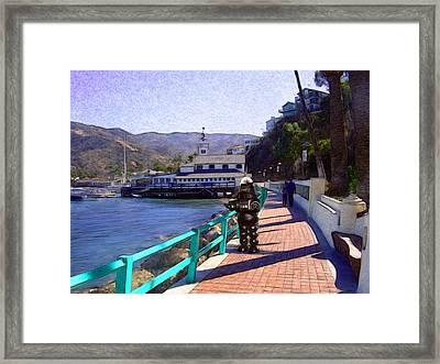 Romantic Stroll Framed Print by Snake Jagger