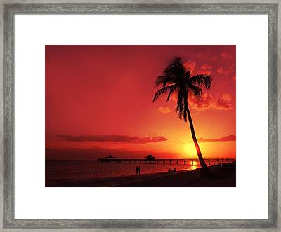 Romantic Sunset Framed Print by Melanie Viola
