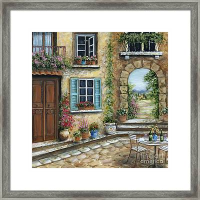 Romantic Tuscan Courtyard Il Framed Print