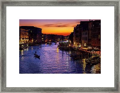 Romantic Venice Framed Print by Andrew Soundarajan