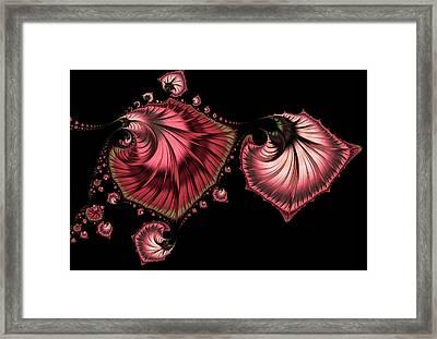 Romantically Jewelled Abstract Framed Print by Georgiana Romanovna