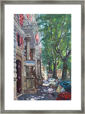 Rome A Small Talk By Barbiere Mario Framed Print by Ylli Haruni