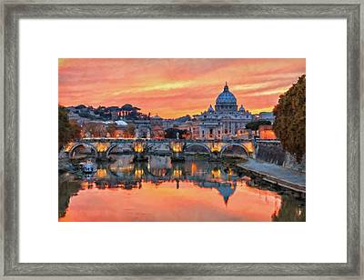 Rome And The Vatican City - 01  Framed Print