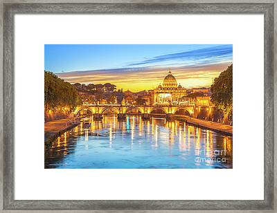 Rome At Twilight Framed Print