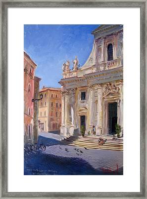 Rome Basilica S Giovanni Battista Dei Fiorentini Framed Print by Ylli Haruni