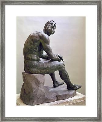 Rome Boxer Sculpture Framed Print by Granger