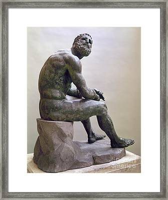 Rome Boxer Sculpture Framed Print