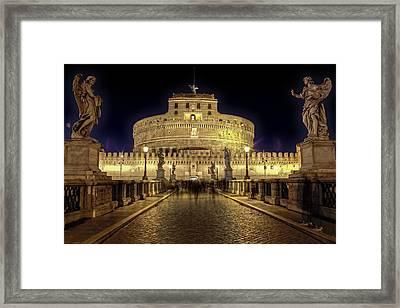 Rome Castel Sant Angelo Framed Print