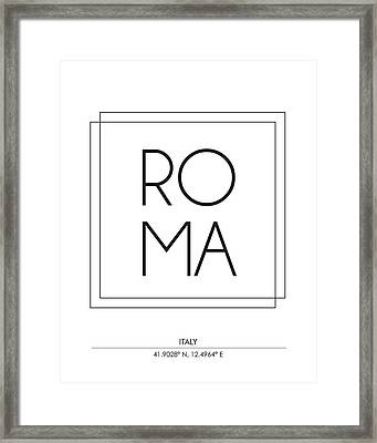 Rome City Print With Coordinates Framed Print