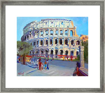 Rome Colosseum Framed Print by Ylli Haruni