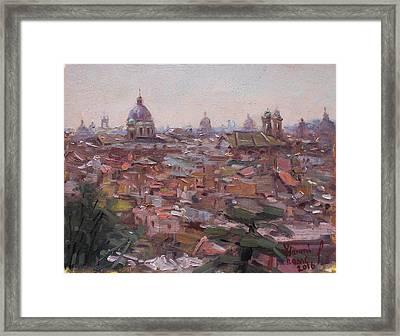 Rome Da Pincio Framed Print by Ylli Haruni