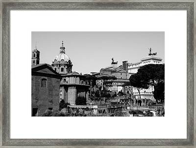 Rome - Details From The Imperial Forums 3 Framed Print by Andrea Mazzocchetti