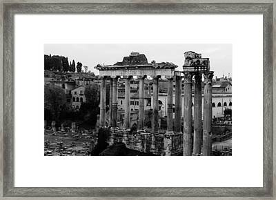 Rome - Details From The Imperial Forums Framed Print