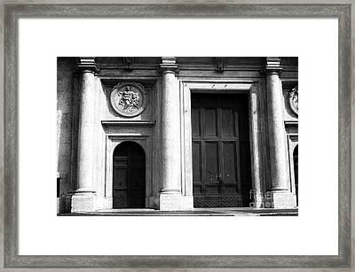 Rome Door Sizes Framed Print by John Rizzuto