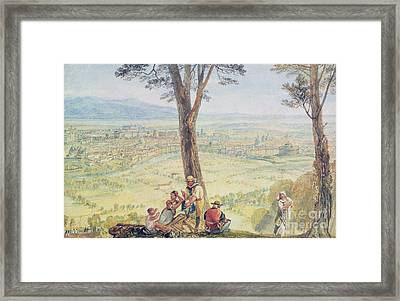 Rome From Monte Mario Framed Print by Joseph Mallord William Turner