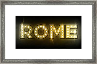 Rome In Lights Framed Print by Michael Tompsett