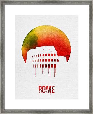 Rome Landmark Red Framed Print