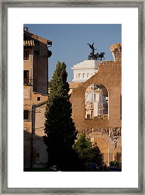 Rome Layers 1 Framed Print by Art Ferrier