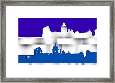 Rome Lines 3 Framed Print by Alberto RuiZ