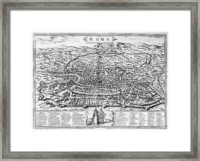 Rome: Map, 1576 Framed Print by Granger