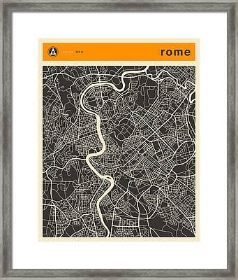 Rome Map Framed Print