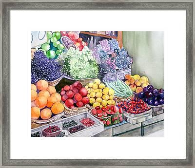 Rome Market Framed Print
